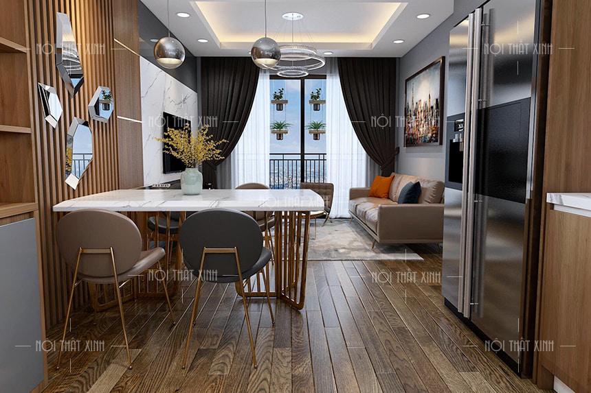 Không gian thiết kế nội thất chung cư Vinhomes Ocean Park là không gian mở